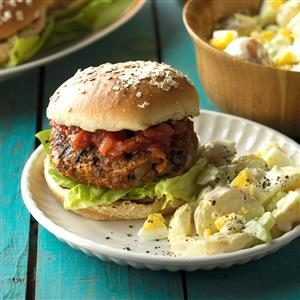 Grilled Bean Burgers Recipe