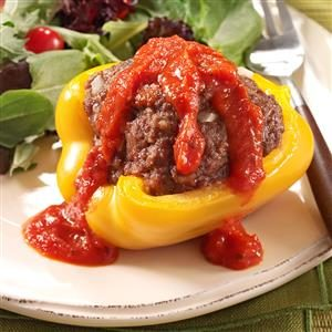 Grilled Beef-Stuffed Peppers Recipe