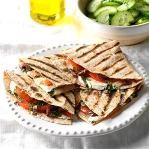 Grilled Caprese Quesadillas Recipe
