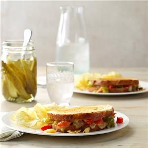 Grilled Cheese & Pepper Sandwiches Recipe
