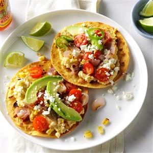 Grilled Corn Hummus Tostadas Recipe