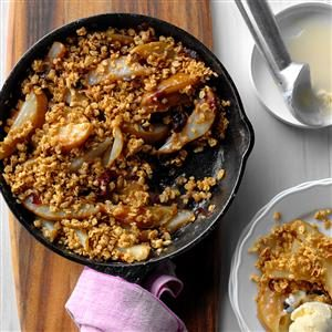 Grilled Cranberry Pear Crumble Recipe