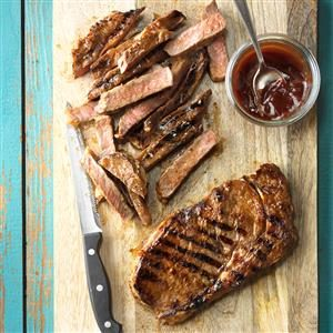 The Great Outdoors: Grilled Marinated Ribeyes