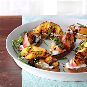 Grilled Nectarine & Cheese Crostini Recipe