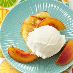 Grilled Peaches & Pound Cake Recipe
