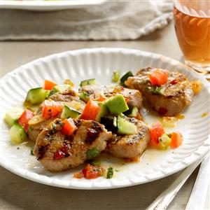 Grilled Pork with Avocado Salsa Recipe