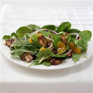 Grilled Portobello Spinach Salad Recipe