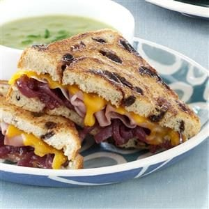 Grilled Prosciutto-Cheddar Sandwiches with Onion Jam Recipe