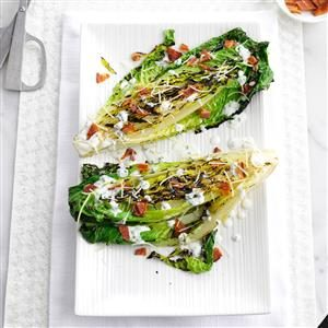 Grilled Romaine with Chive-Buttermilk Dressing Recipe