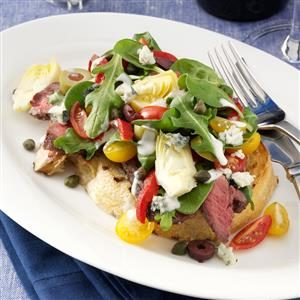 Grilled Steak Bruschetta Salad Recipe