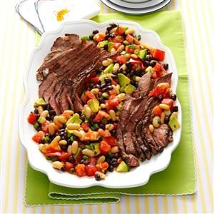 Grilled Steak Salad with Tomatoes & Avocado Recipe