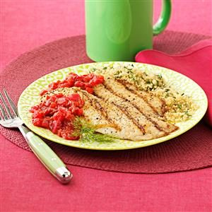 Grilled Tilapia with Raspberry Chipotle Chutney Recipe