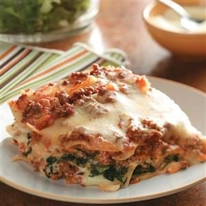Ground Beef Spinach Alfredo Lasagna Recipe