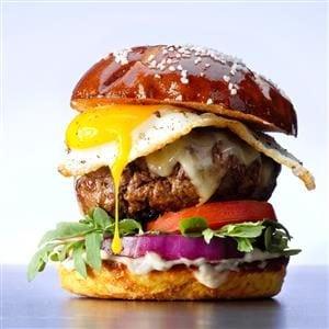 Gruyere and Egg Burgers Recipe