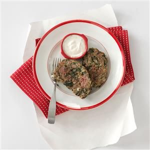 Gyro Meat Loaf with Tzatziki Sauce Recipe