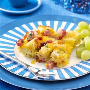 Ham & Cheese Strata with Sun-Dried Tomatoes Recipe