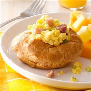 Ham & Egg Brunch Puffs Recipe