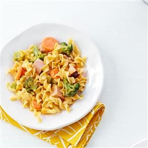 Ham & Noodles with Veggies Recipe