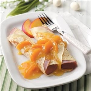 Ham 'n' Cheese Crepes for Two Recipe