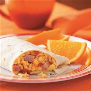 Ham 'n' Egg Burritos Recipe