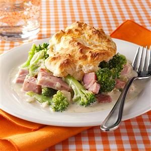 Ham and Broccoli Biscuit Bake Recipe