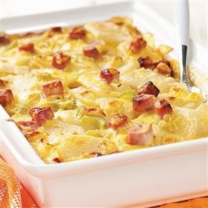 Ham and Creamy Potato Scallops Recipe