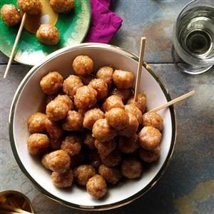 Ham Balls with Brown Sugar Glaze