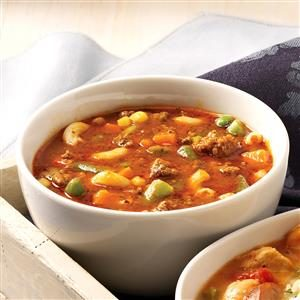 Hamburger Minestrone Recipe
