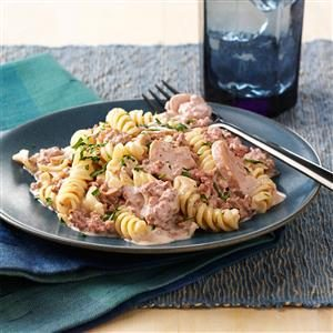Hamburger Stroganoff for Two Recipe
