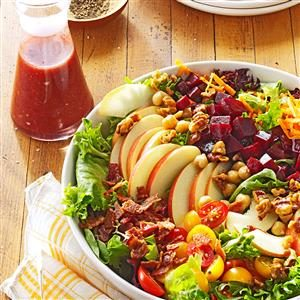 Harvest Salad with Cherry Vinaigrette Recipe