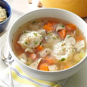 Healthy Chicken Dumpling Soup Recipe