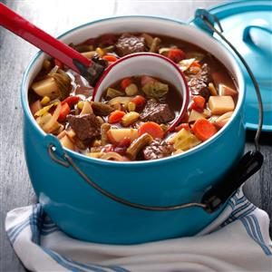 Hearty Beef & Vegetable Soup Recipe