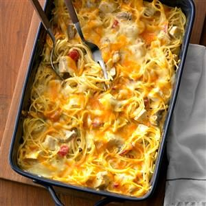 Hearty Chicken Spaghetti Casserole Recipe