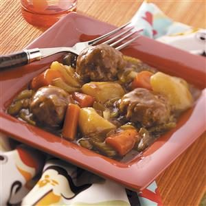 Hearty Meatball Stew Recipe