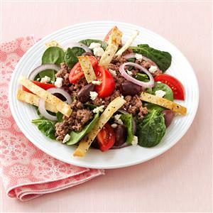 Hearty Pita Spinach Salad Recipe