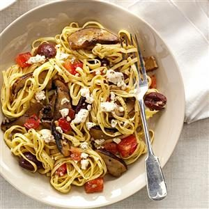 Hearty Portobello Linguine