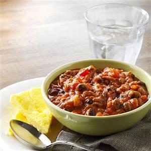 Hearty Pumpkin Chili with Polenta Recipe