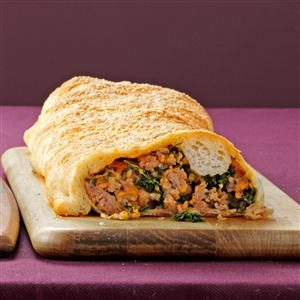 Hearty Sausage-Stuffed Loaf