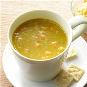 What is an easy split pea soup recipe?