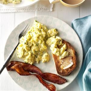 Herb & Cheese Scrambled Eggs Recipe photo by Taste of Home