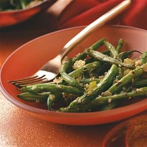 Herb-Buttered Green Beans Recipe