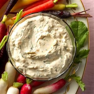 Herb Dip with Spring Vegetables Recipe