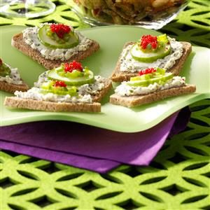 Herbed Cheese Canapes Recipe