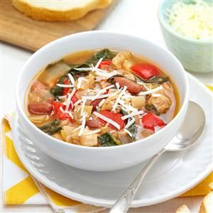 Herbed Chicken Spinach Soup