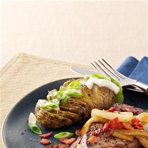 Herbed Potato Fans Recipe