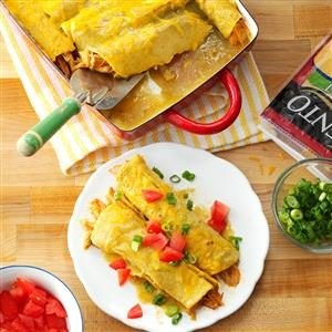 Honey-Lemon Chicken Enchiladas Recipe