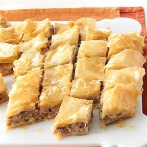 Honey Nut & Cream Cheese Baklava Recipe