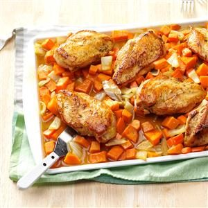 Honey-Roasted Chicken & Root Vegetables Recipe