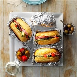 Hot Antipasto Subs Recipe