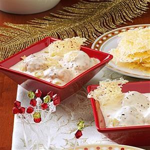 Hungarian Pepper Soup with Romano Crisps Recipe